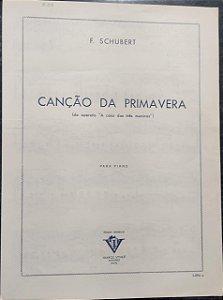 CANÇÃO DA PRIMAVERA - Partitura para piano - Schubert