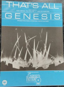 THAT´S ALL - partitura para piano, canto e cifras para violão - Tony Banks, Phil Collins e Mike Rutherford - Genesis