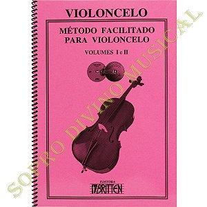 MÉTODO FACILITADO PARA VIOLONCELO - Vol. 1 e 2 - Nelson Gama Edição com 2Cds e 1 DVD