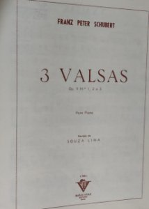 3 VALSAS OPUS 9 N° 1, 2 E 3 - partitura para piano - Franz Peter Schubert