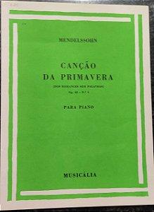 CANÇÃO DA PRIMAVERA - partitura para piano - Mendelssohn