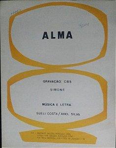 PARTITURA PARA PIANO: ALMA - gravação Simone