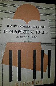COMPOSIZIONI FACILI PER PIANO FORTE A 4 MANI - Haydn, Mozart, Clementi (4 mãos / 2 pianos)