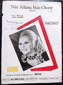 NÃO ADIANTA MAIS CHORAR (bolero) - partitura para piano - Jorge Ricardo / Cláudia Barroso