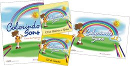 COLORINDO SONS KIT VOL. 2 - Livro do Professor + Livro do aluno + 2 CDs - Elvira Drummond