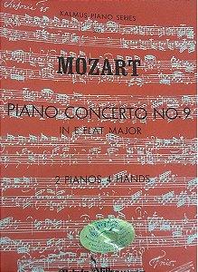 MOZART - PIANO CONCERTO N° 9 em Mi Maior Plana 2 pianos 4 mãos - Mozart