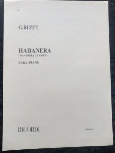 "HABANERA ""DA OPERA CARMEN"" para piano - Bizet"