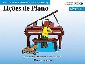 LIÇÕES DE PIANO LIVRO 1 - Barbara Kreader, Fred Kern, Phillip Keveren, Mona Rejino (Versão em Português) Incluindo código para acesso MIDI e de áudio