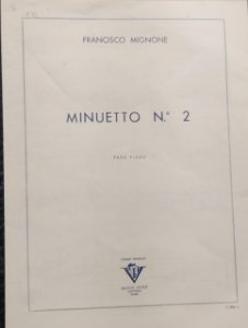 MINUETTO N° 2 - partitura para piano - Francisco Mignone