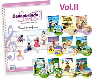DESCOBRINDO SONS VOL. 2 - Manual do Professor, 10 livros e 10 Cds - Elvira Drummond