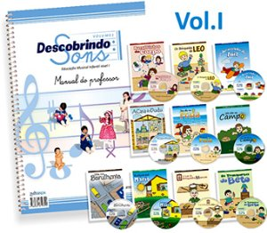 DESCOBRINDO SONS VOL. 1 - Manual do Professor, 10 livros e 10 Cds - Elvira Drummond