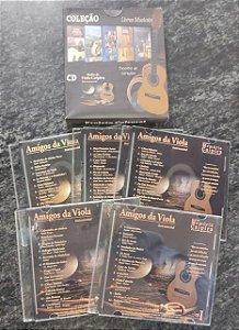CDs AMIGOS DA VIOLA - Coleção com 5 Cds com músicas sertanejas instrumentais na viola - Rene Faria Filho