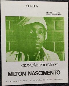 OLHA - partitura para piano solo - Milton Nascimento