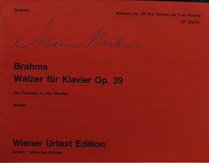 BRAHMS - WALZER FUR KLAVIER OPUS 39 - 4 mãos