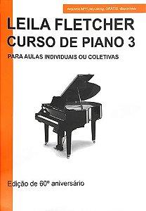 LEILA FLETCHER CURSO DE PIANO Vol. 3 Livro + Áudio Online - Nova Edição em Português