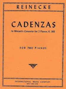 CADENZAS TO MOZART´S CONCERTO FOR  PIANOS, K 365 - Reinecke (4maõs/2 pianos)