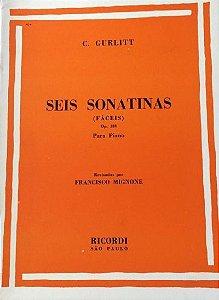 GURLITT - SEIS SONATINAS FÁCEIS Opus 188 (Rev. Francisco Mignone) Editora Ricordi