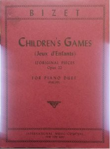 CHILDREN´S GAMES (JEUX D´ENFANTS) OPUS 22 (4 MÃOS) - Bizet