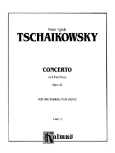 TSCHAIKOWSKY - CONCERTO IN BFLAT MINOR OPUS 23 FOR 2 PIANOS / 4 HANDS