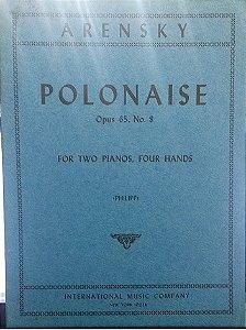 POLONAISE opus 65 n° 8 - 2 pianos, 4 mãos - Arensky