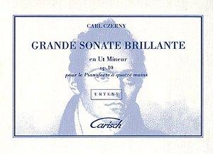 GRANDE SONATE BRILLANTE en Ut Mineur opus 10 - 4 mãos - Czerny