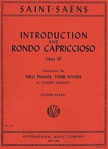 INTRODUCTION AND RONDO CAPRICCIOSO OPUS 28 - 2 PIANOS, 4 MÃOS - Saint-Saëns