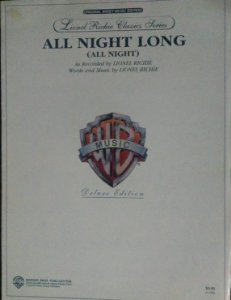 PARTITURA PARA PIANO: ALL NIGHT LONG - Lionel Richie