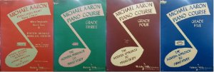 MICHAEL AARON – kit 4 volumes CURSO PARA PIANO 2° ao 5° VOL