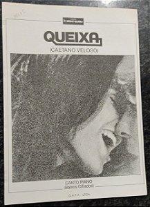 QUEIXA - Partitura para piano e canto - Caetano Veloso
