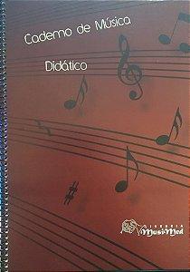 Caderno De Música Grande Musimed - Capa Vermelha