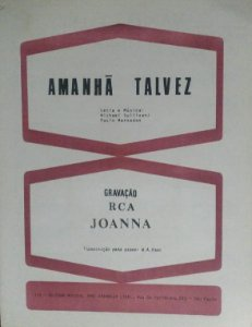 PARTITURA PARA PIANO: AMANHÃ TALVEZ - Michael Sullivan e Paulo Massadas