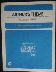 PARTITURA PARA PIANO: ARTHUR´S THEME - Burt Bacharach, Carole Sager, Christopher Cross e Peter Allen