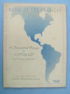 MUSIC OF THE AMERICAS - Catullo