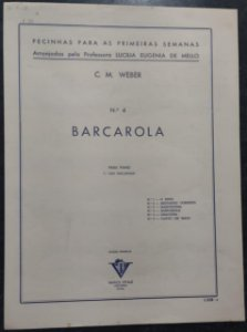 BARCAROLA - partitura para piano - C. M. Weber