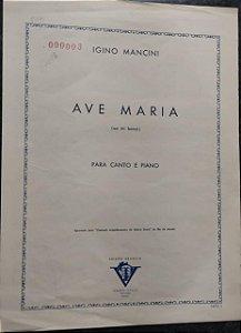 AVE MARIA - partitura para piano e canto em Mi bemol - Igino Mancini
