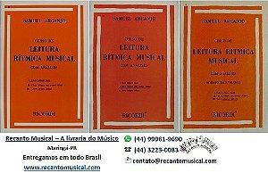 CURSO DE LEITURA RÍTMICA MUSICAL - Vol. 1, 2 e 3 - Samuel Arcanjo