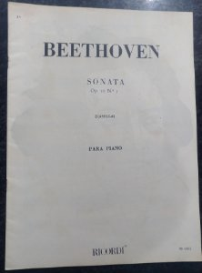 BEETHOVEN - SONATA Opus 10 n° 1 (Rev. Casella) Ed. Ricordi