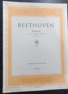 BEETHOVEN - SONATA Opus 10 n° 2 Ed. Schott
