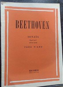 BEETHOVEN - SONATA Opus 02 n° 2 (Rev. Casella) Ed. Ricordi