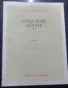 PROKOFIEFF - SONATA N° 5 Opus 38 (Cinquieme Sonate) Ed. Boosey & Hawkes