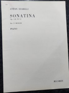 DIABELLI – SONATINA Opus 151 n° 4 (Rev.P. Montani) - Editora Ricordi