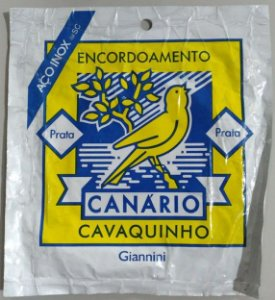 ENCORDOAMENTO PARA CAVAQUINHO – GIANNINI – CANÁRIO – PRATA AÇO INOX