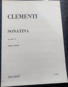 CLEMENTI – SONATINA OPUS 36 N° 2 – Editora Ricordi