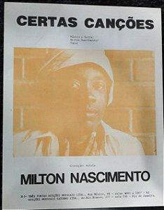 PARTITURA PARA PIANO: CERTAS CANÇÕES - Milton Nascimento