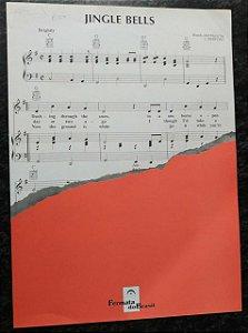 PARTITURA PARA PIANO e VOZ, CIFRAS PARA VIOLÃO: JINGLE BELLS - J. Pierpont