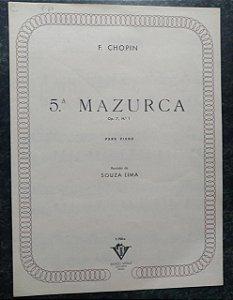 MAZURCA (5ª ) OPUS 7 N° 1 - Chopin (partitura para piano solo)