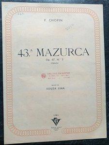 MAZURCA (43ª ) OPUS 67 N° 2 - Chopin (partitura para piano solo)