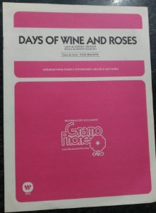 DAYS OF WINE AND ROSES - partitura para piano solo, canto e cifras para violão - Johnny Mercer e Henry Mancini