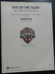 EYE OF THE TIGER - partitura para piano, canto e cifras para violão - Tema do filme RockyIII - Survivor