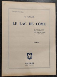 LE LAC DE COME - partitura para piano solo - C. Galos